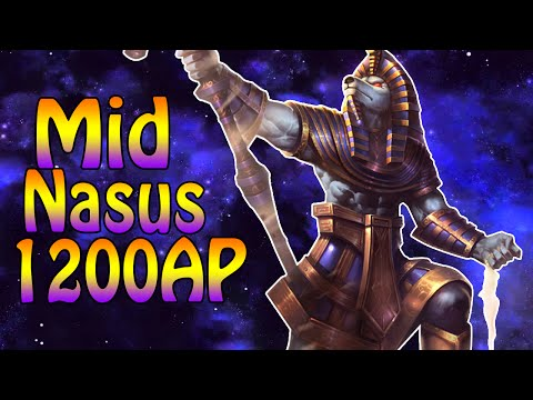 1200 AP NASUS MID + DMG TEST Gameplay [german]