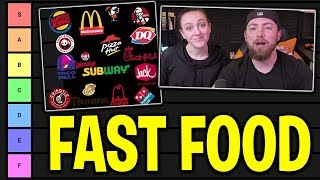 Rating Our Favorite Fast Food Restaurants (Tier List)