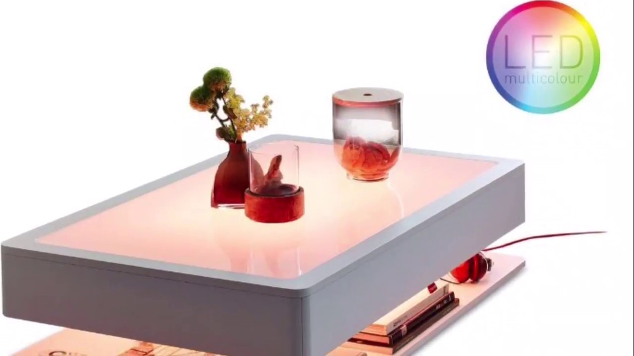 MOREE Ora Design LED Couchtisch Tisch Beleuchtung Home Pro Mit Fernbedienung