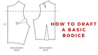 (DETAILED) HOW TO DRAFT A BASIC BODICE / BEGINNER SEWING