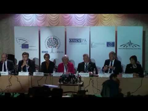 Ukraine, Early Parliamentary Elections, 26 October 2014: Elex Observation Mission Press Conference