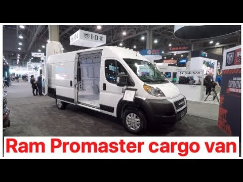 Checking out the Dodge Ram Promaster cargo vans at NAB show 2019