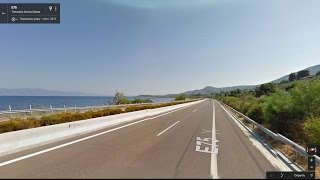 Часть 33. Дорога  Ламия - Афины. Part 33. Road Lamia - Athens(Картографические данные: Google, DigitalGlobe Map data : Google, DigitalGlobe Видео создано на основе дорожных панорам и Карт Google..., 2017-01-16T18:40:27.000Z)