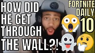 HOW DID HE GET THROUGH THE WALL? | FORTNITE DAILY BEST/FUNNY TWITCH MOMENTS 10  | 23th June 2018