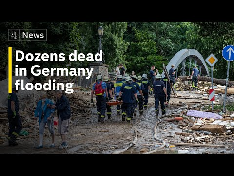 Over 40 dead and dozens missing in Germany after record rainfall and devastating floods