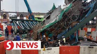Bridge under construction collapses near Desa Tun Razak
