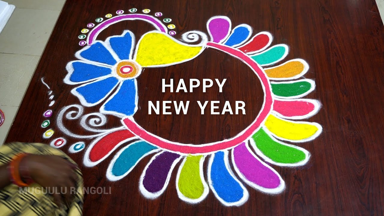 The Best New Year Day Rangoli