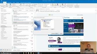 Sauvegarder ses emails et ses contacts dans Outlook 2016