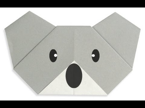 How To Make Origami Koala Face