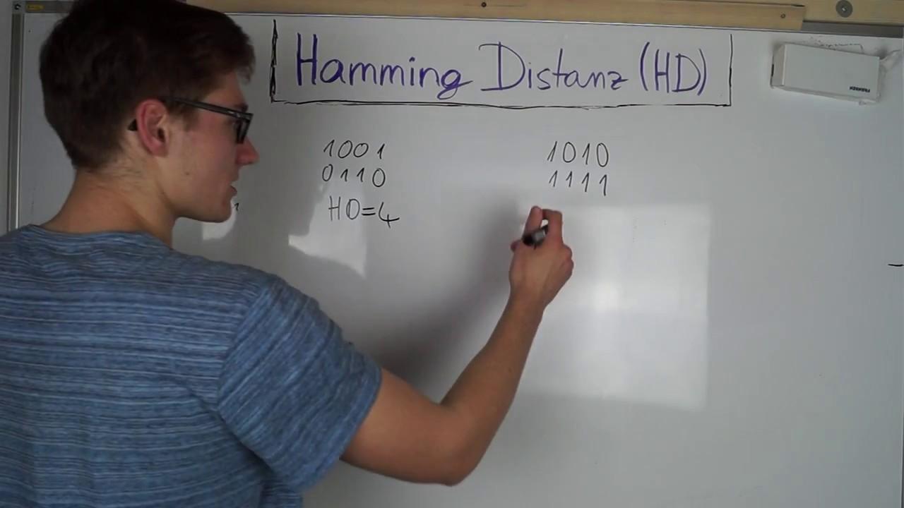 hamming distanz hamming distance digitaltechnik youtube. Black Bedroom Furniture Sets. Home Design Ideas