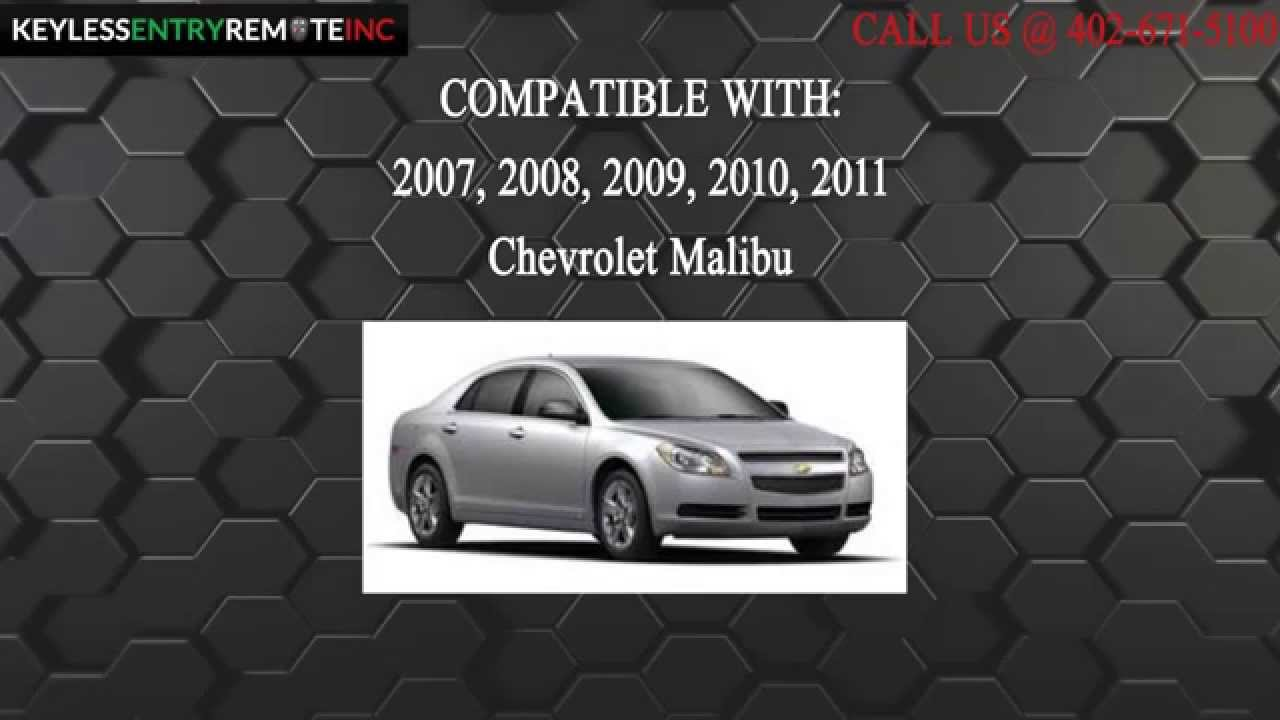 How To Replace Chevrolet Malibu Key Fob Battery 2007 2008 2009 ...