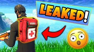Fortnite Update: *NEW* 7 LEAKED BACKPACK ITEMS! – INTEL Pack, Medic Pack (Battle Royale Jet Pack)