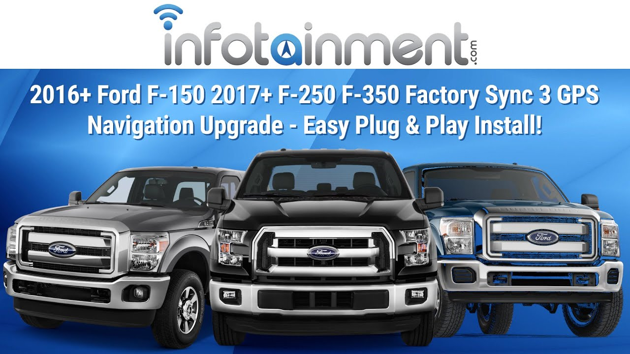 2016+ Ford F-150 2017+ F-250 F-350 Factory Sync 3 GPS Navigation Upgrade - Easy Plug & Play ...