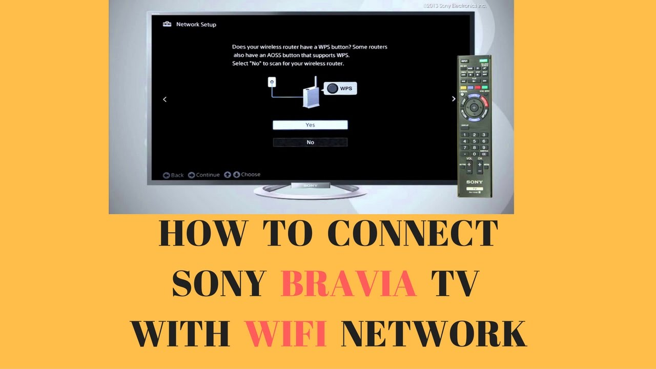 how to connect sony bravia tv with wifi network youtube. Black Bedroom Furniture Sets. Home Design Ideas