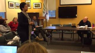 Whitney Battle-Baptiste talks about issues at Pelham Elementary