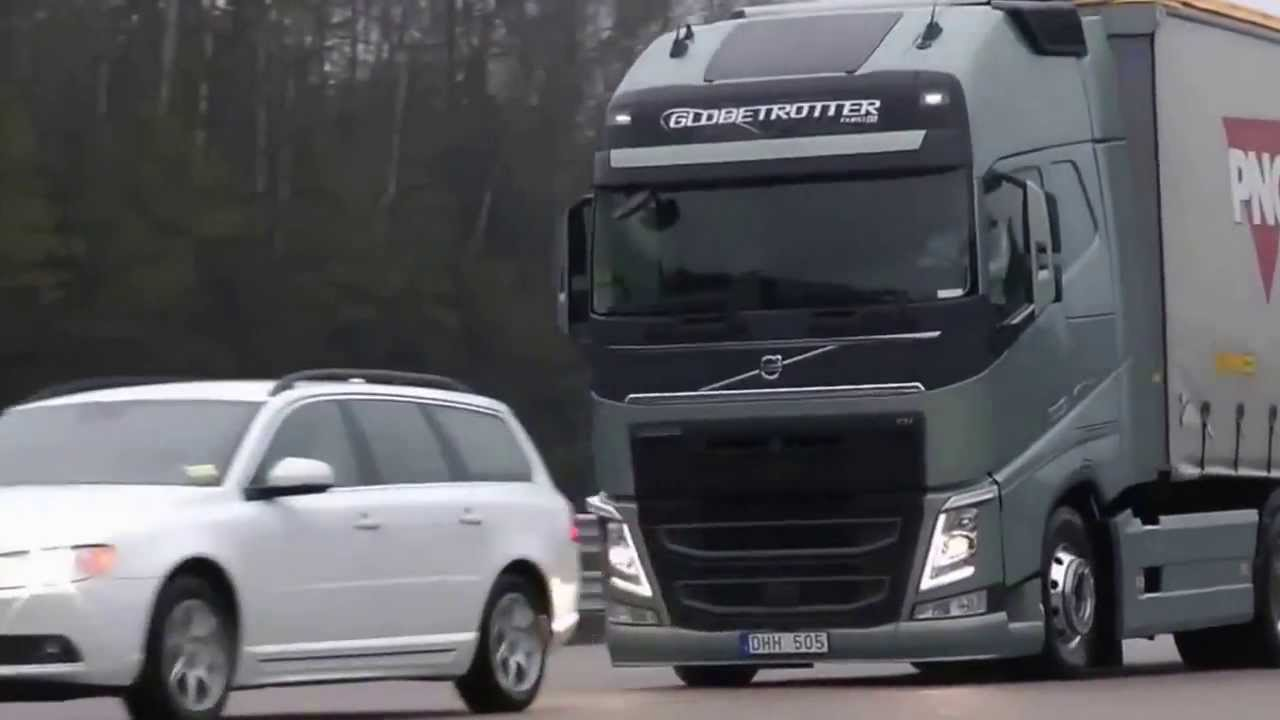 Test Camioane Volvo Emergency Braking Youtube