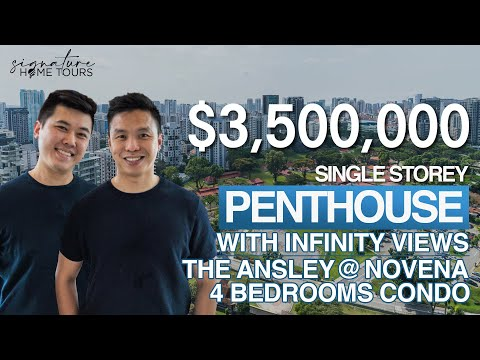 Singapore Condo | The Ansley: Single Storey Penthouse | Infinity Views of Novena ($3.5M, 4 Bedrooms)