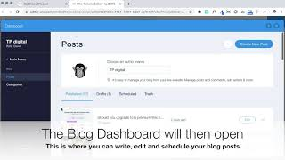 TPDWixpert How to Schedule a Blog Post in Wix