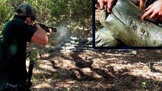Sand Bag Torture Test (9mm, .223, 12g Slug & 00 Buck)
