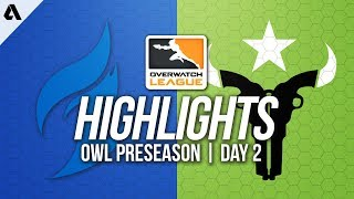 Dallas Fuel vs Houston Outlaws | Overwatch League Preseason Highlights Day 2