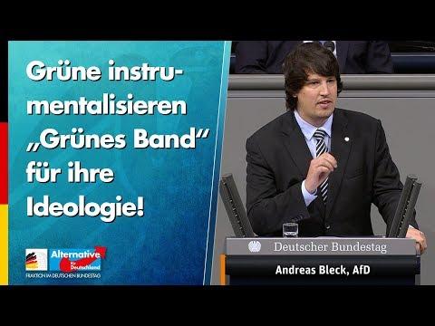 """Grüne instrumentalisieren """"Grünes Band"""" für ihre Ideologie! - Andreas Bleck - AfD-Fraktion"""