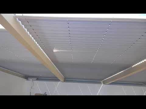 Натяжные жалюзи Плиссе потолочные с электроприводом
