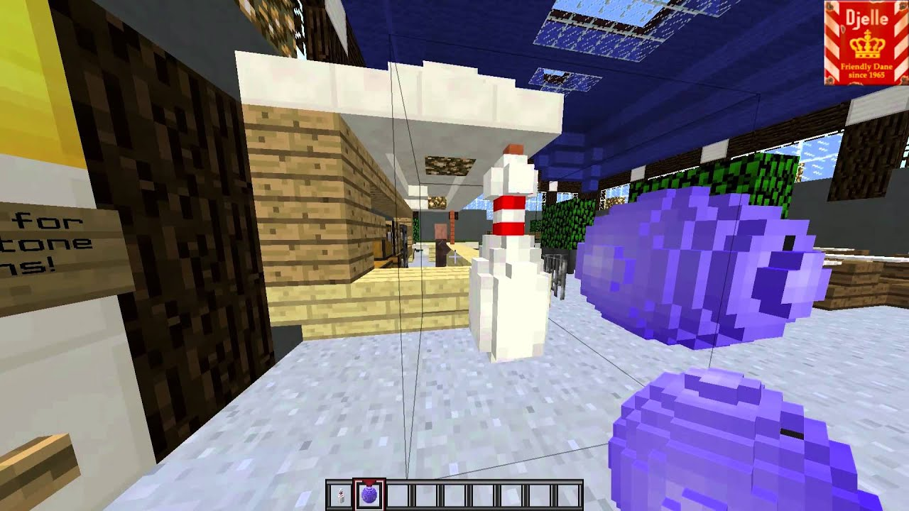 Bowling In Vanilla Minecraft YouTube - Bowling map para minecraft 1 10