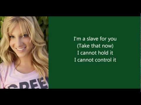 Glee Cast - I'm a Slave 4 U (lyrics video)