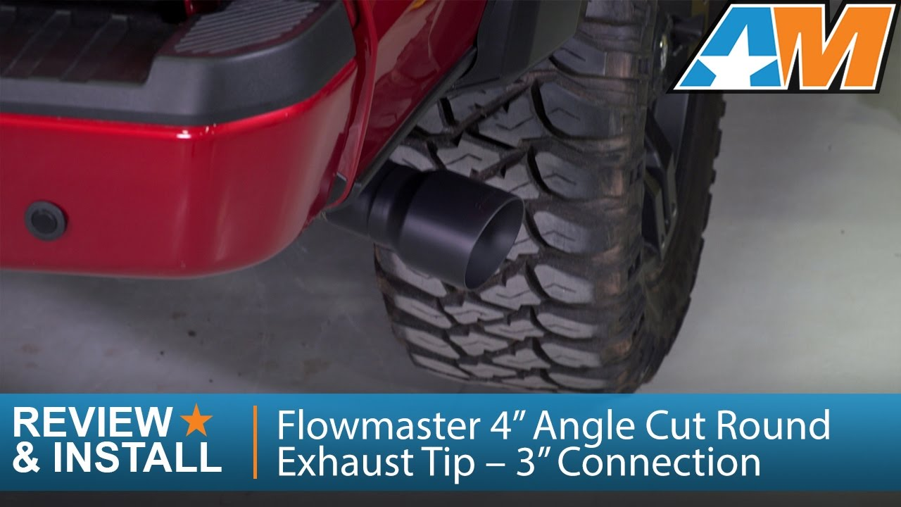 1997 2017 ford f 150 flowmaster 4 angle cut round exhaust tip 3 connection review install