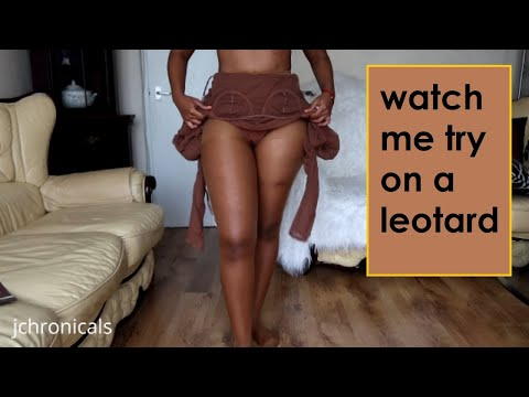 TRY ON + REVIEW | Encolor Pantyhose With A Leotard | Brown Bodysuit With Nude Tights