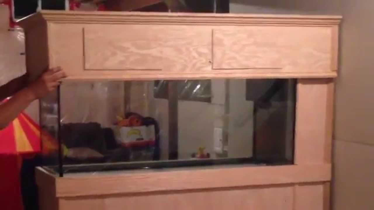 New 75 gallon peninsula coral reef fish tank stand build   YouTube