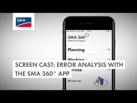 Screen cast: Error analysis with the SMA 360° app