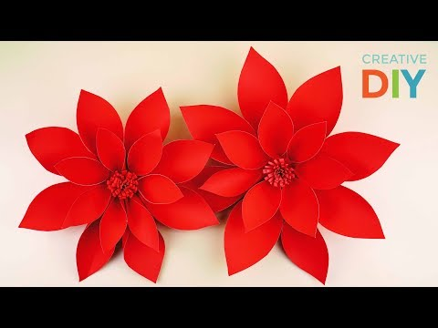 DIY Paper Dahlia Flowers Tutorial - My Wedding Backdrop Flowers | Creative DIY