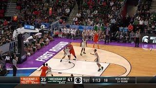 Michigan State Spartans vs. Bucknell Bison: 1st Half Highlights
