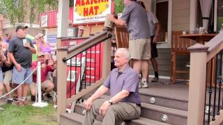 Governor Dayton does the Ice Bucket Challenge at the Minnesota State Fair