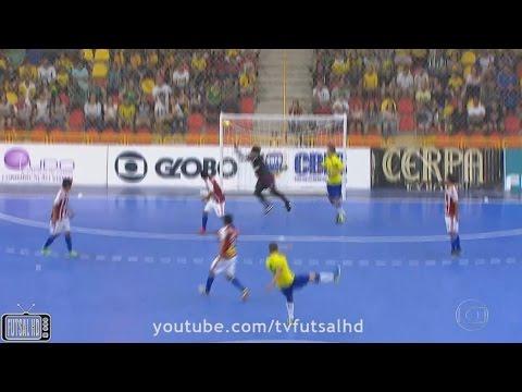 Gols Brasil 6 x 3 Paraguai - Amistoso Internacional de Futsal 2016 (30/10/2016)