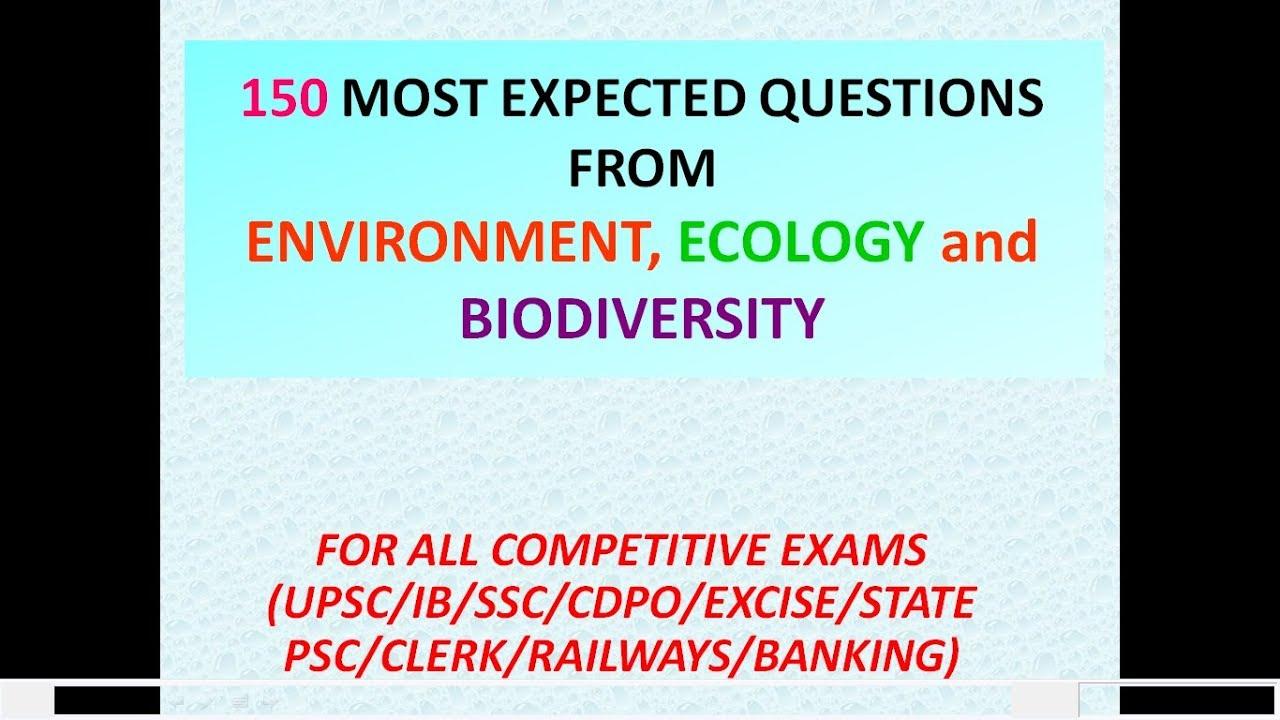 biodiversity questions