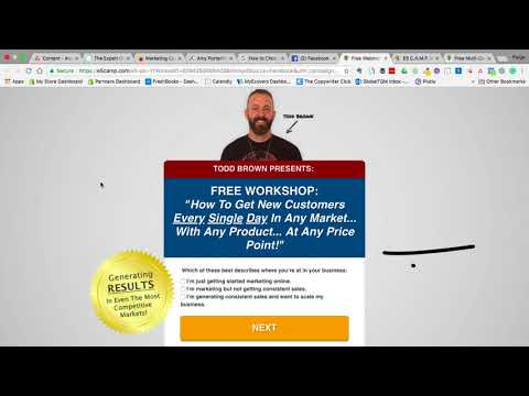 Landing Page Critique: Todd Brown's Workshop
