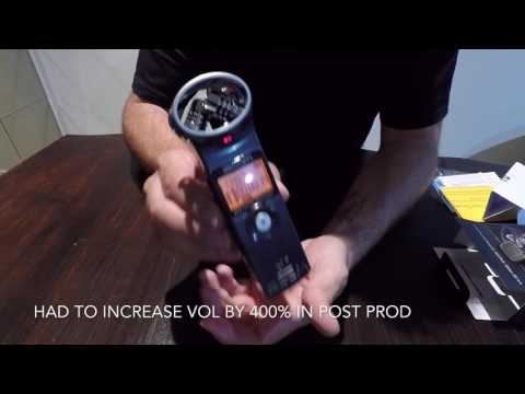 Zoom H1 MP3 Recorder Unboxing and Sample Audio