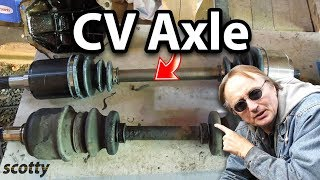 Replacing A Broken CV Axle On Your Car