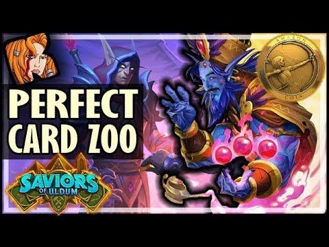 THE PERFECT CARD BELONGS IN ZOO! - Saviors of Uldum Hearthstone