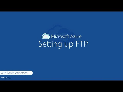 How to setup an FTP server on Microsoft Azure