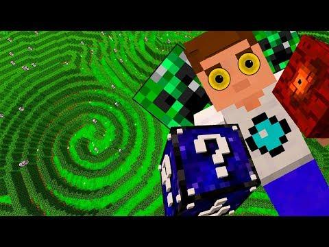 видео: Лабиринт Минотавра в Майнкрафт! Бегущий в лабиринте. Лаки блоки