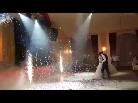 Танец молодых - сценические эффекты