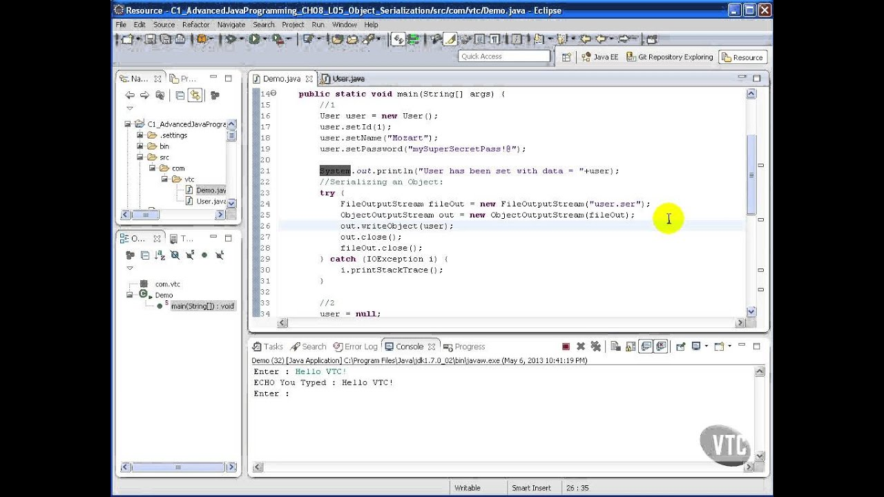 Advanced java tutorial object serialization youtube advanced java tutorial object serialization baditri Image collections