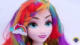 FROZEN ELSA Liquid Hair Chalk Makeover Paint SHOPKINS GLITTER GLOBE Kooky Cookie Bakery Compilation