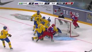 IIHF 2013 World Junior Hockey - Semi final Sweden vs Russia - Highlights