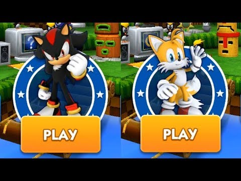 Sonic Dash Gameplay - SHADOW VS TAILS