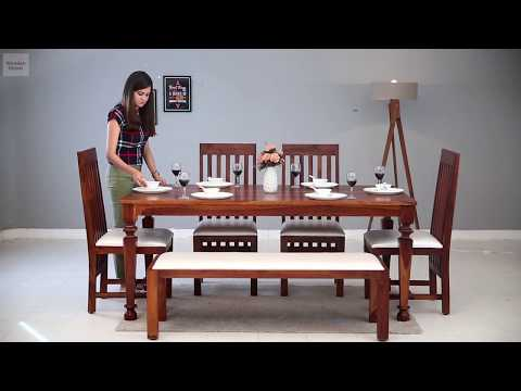 6 Seater Dining Set – Shop 6 seater dining sets online in amazing designs @ Wooden Street