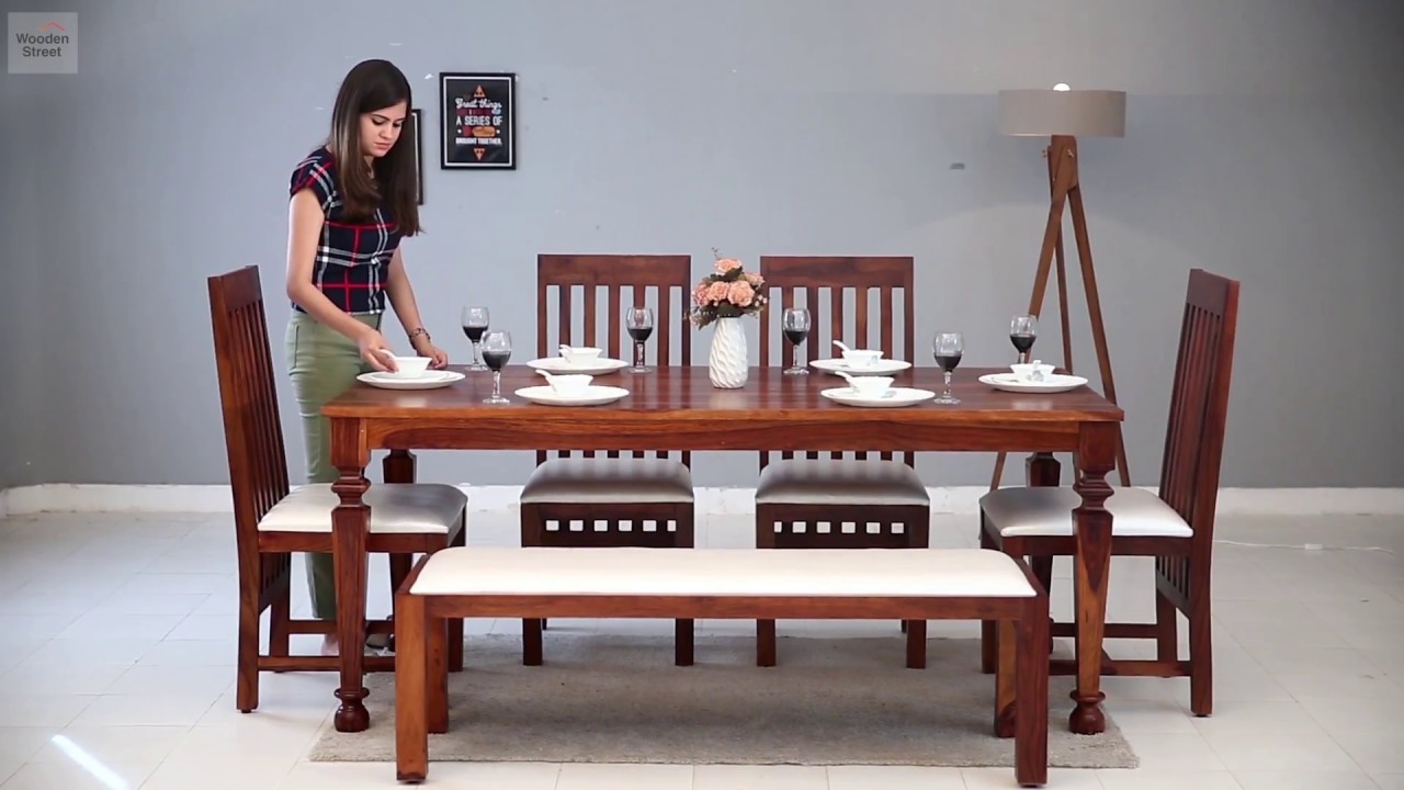 6 Seater Dining Set Sets Online In Amazing Designs Wooden Street